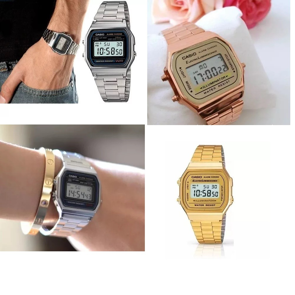 b0c88a406b3 relógio vintage pulso retro barato dourado prata rose. Carregando zoom.