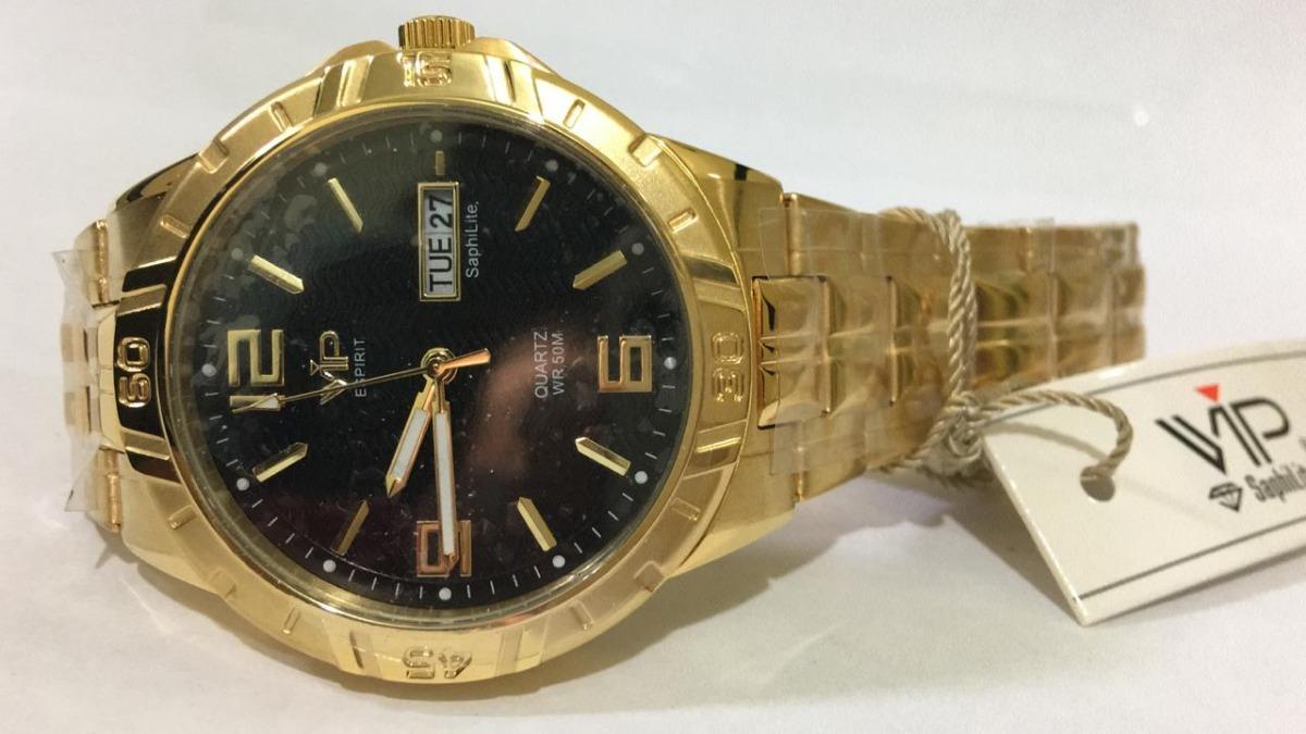 e7ee11f08a6 Relógio Vip Mh-6342 Feminino Original Novo Nota Fiscal - R  150