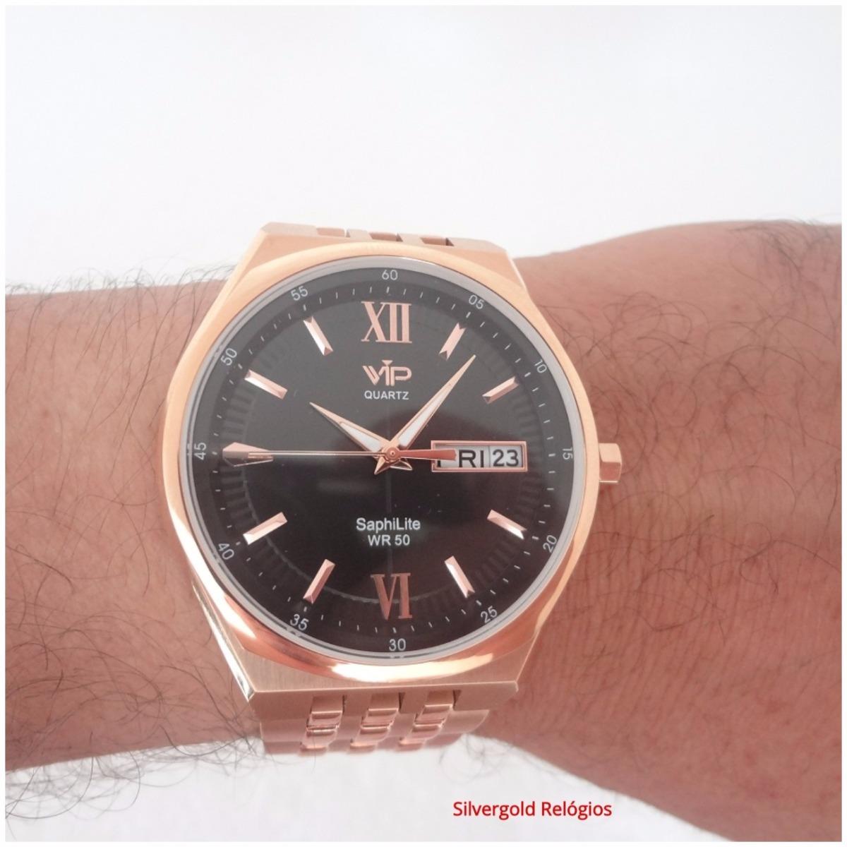 2a77d2b5835 Relógio Vip Mh6360 Social Masculino Original Luxo 12x S j - R  299 ...
