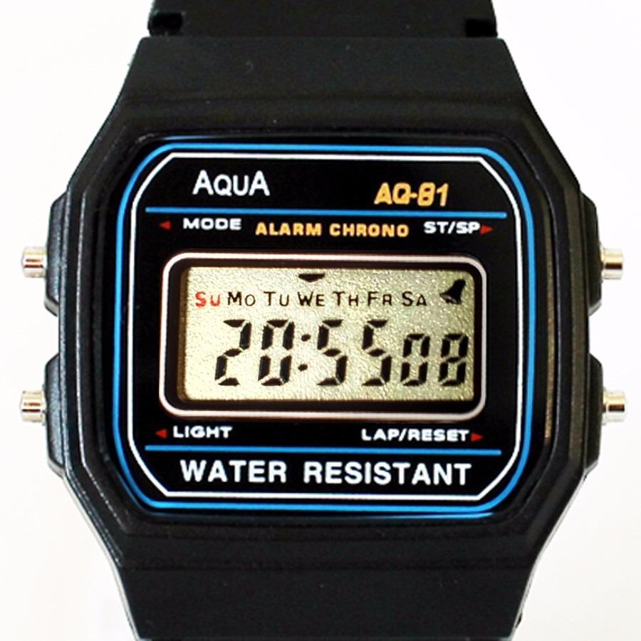 5d97de36ac7 relogio waterproof original aqua aq 81 a prova d agua. Carregando zoom.