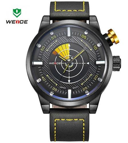 relógio weide 5201 analógico original couro promoção c/caixa
