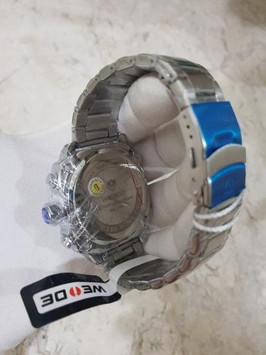 relogio weide 7303 cronografo aco sport 2019 pronta entrega