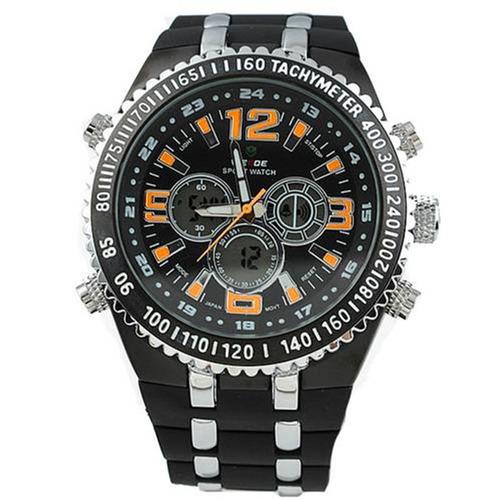 relógio weide anadigi wh-1107 casual duplo time- novo