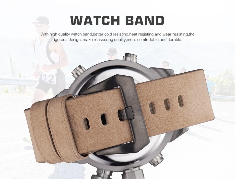 7a4edc35773 Relógio Japan Weide Masculino Anadigital Couro - R  169