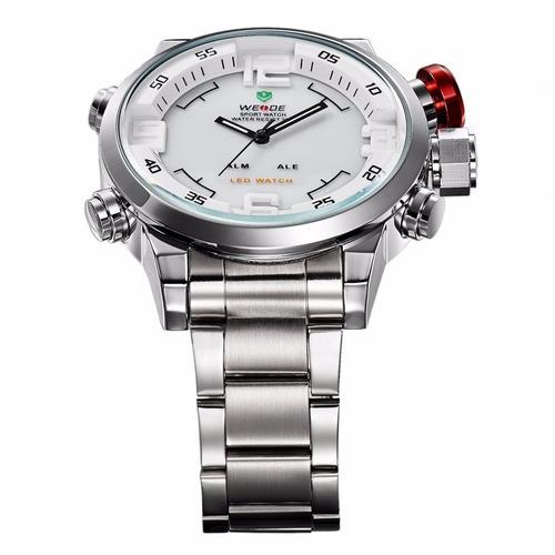 relógio weide sports digital e analógico wh-2309 branco