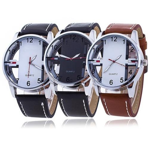 relógio weite masculino pulseira couro o mais vendido