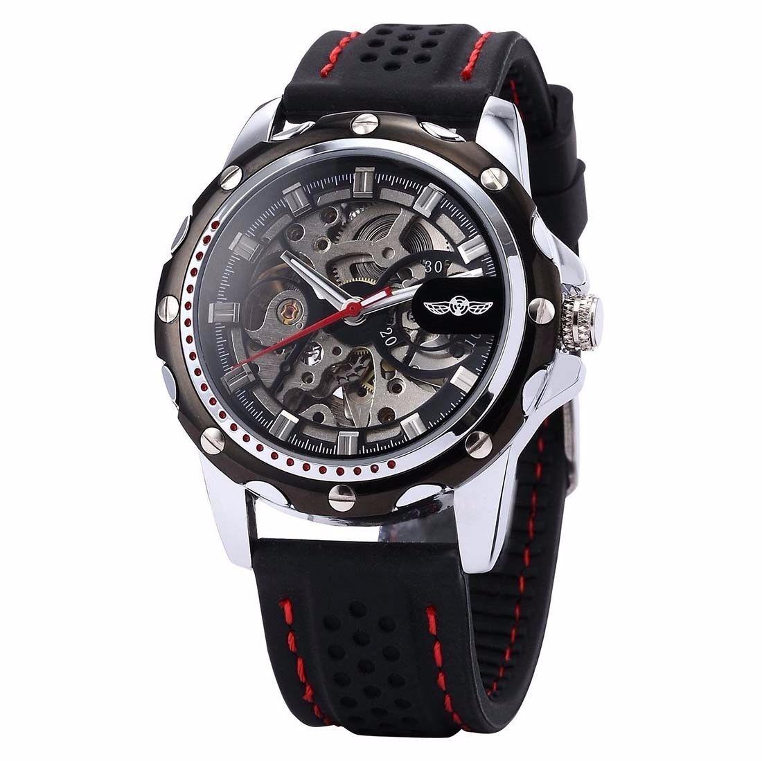 5a7b4f999f9 relógio winner automático pulseira de silicone original! Carregando zoom.