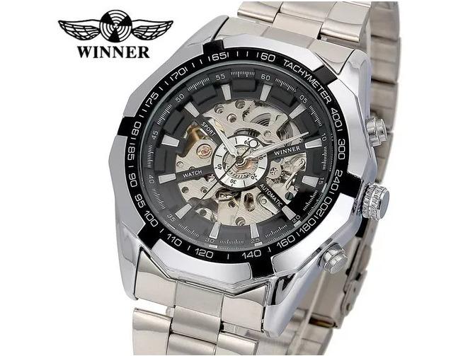 a39ec3a619d Relógio Winner Caluxe Automático Original !! - R  169