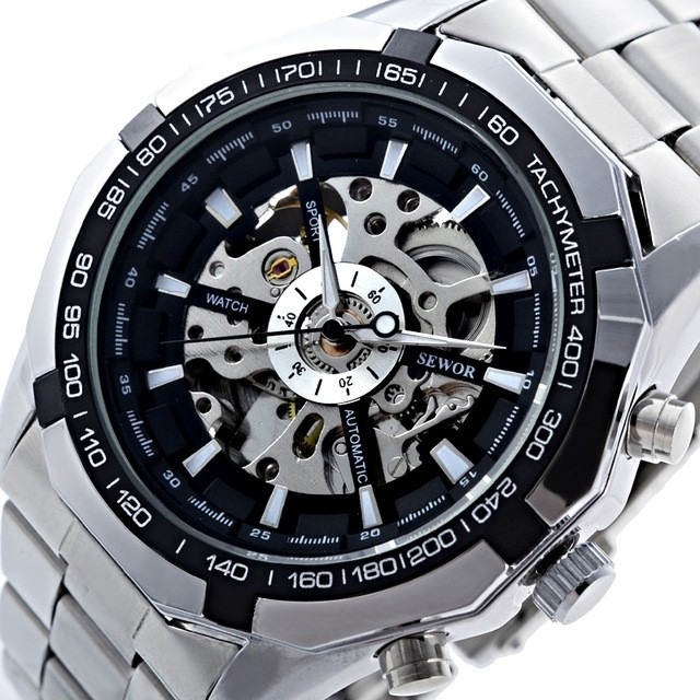 f64e0186795 Relógio Winner Esqueleto Automático Mecânico. - R  109