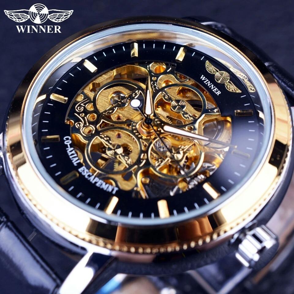 158ce1c9447 Relógio Winner Importado Original Skeleton Frete Grátis Meca - R ...