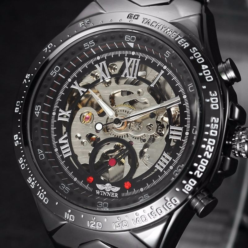 dfc2966bd28 relógio winner skeleton automático modelo novo super oferta. Carregando  zoom.
