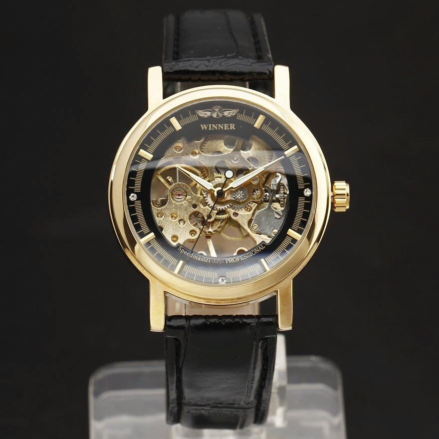 28a58f06034 relógio winner skeleton masculino feminino dourado importado. Carregando  zoom.