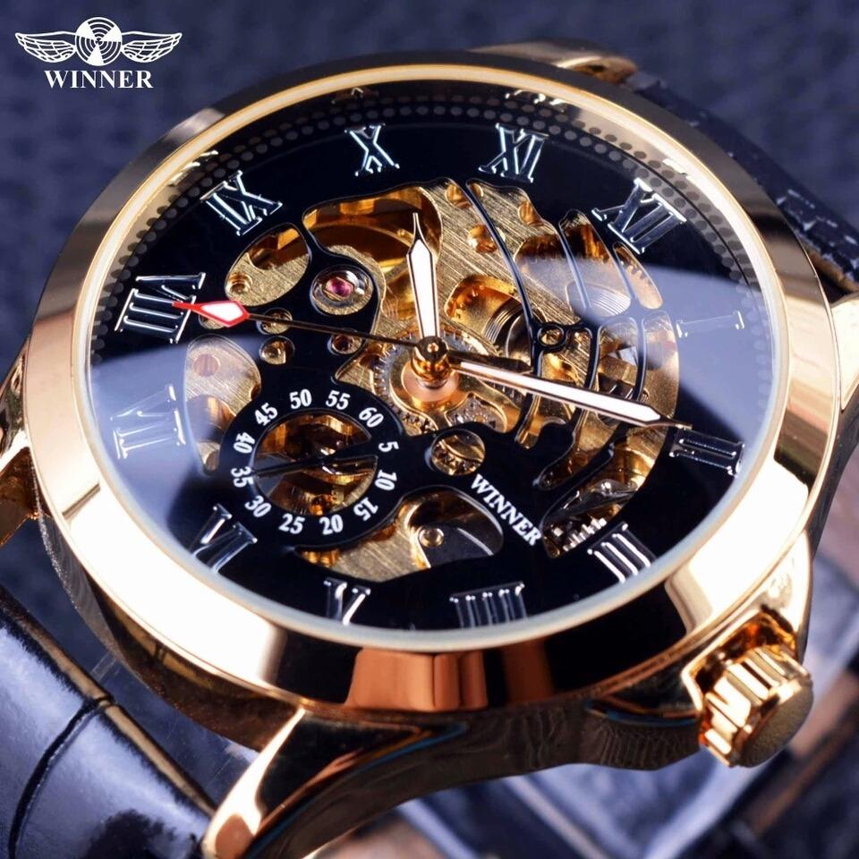 59a951ad279 relógio winner skeleton masculino mecânico automático lindo. Carregando  zoom.