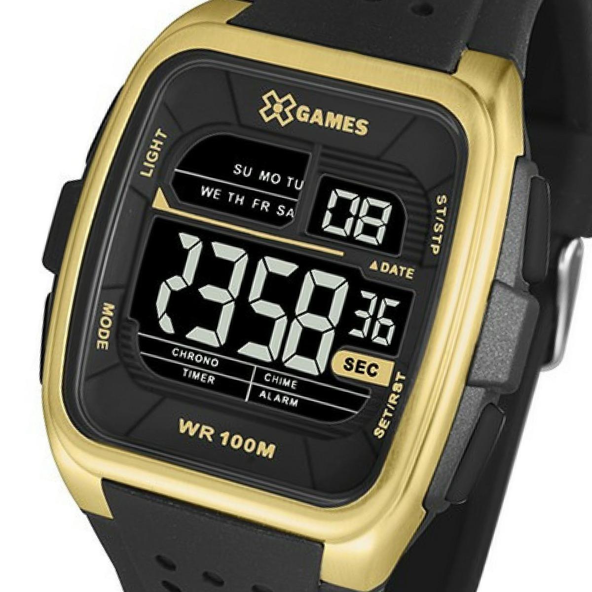 4973533d240 relógio x-games digital esportivo quadrado xgppd105. Carregando zoom.
