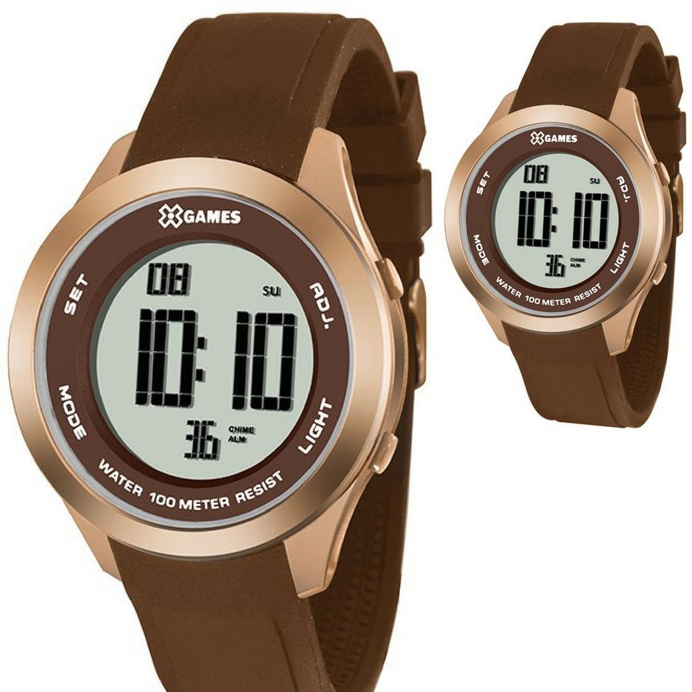 865110242f6 Relógio X Games Digital Feminino Rosê Prova D água Xmppd390 - R  149 ...