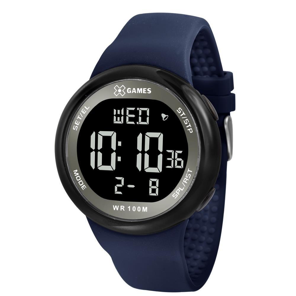 083e7c138f5 relógio x-games digital masculino azul marinho xmppd440. Carregando zoom.