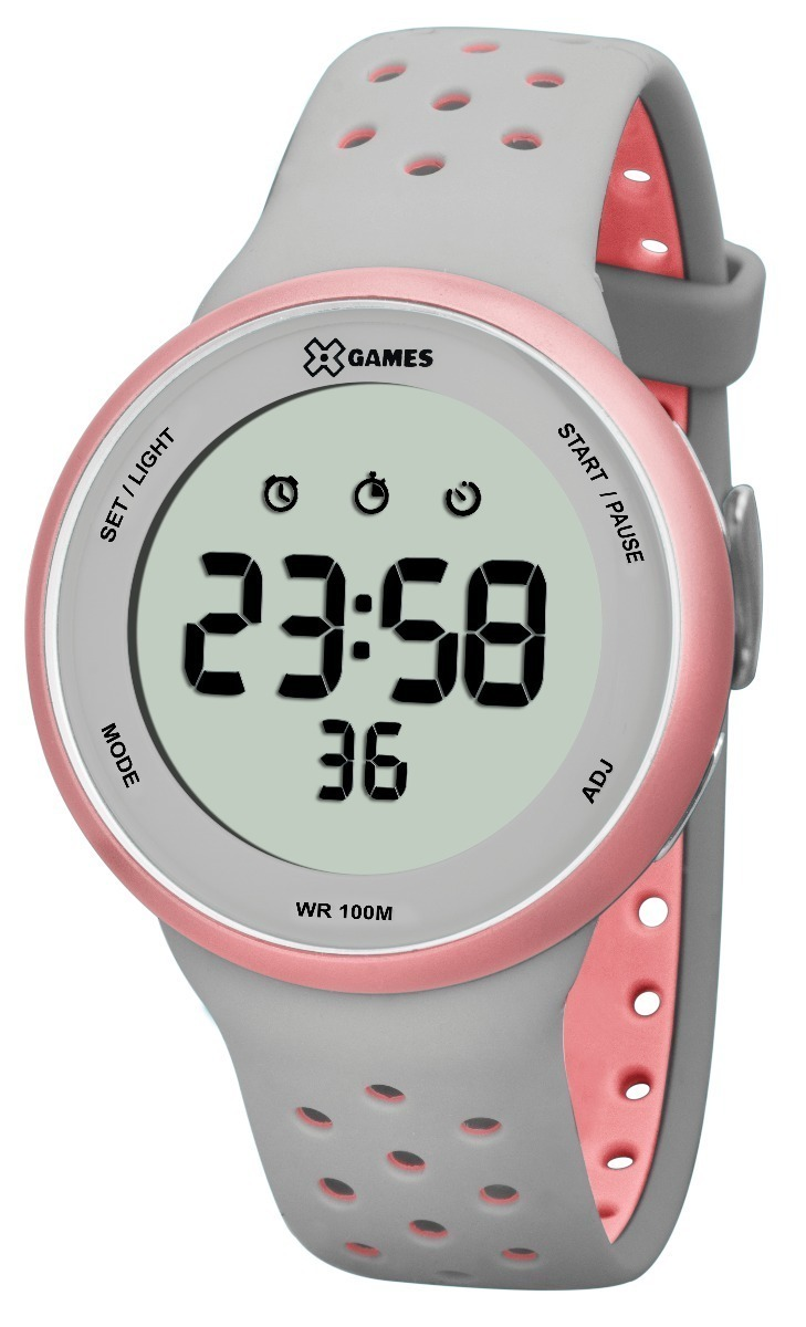 30d4cb59890 relógio x-games digital feminino xfppd039 bxgr + n. fiscal. Carregando zoom.