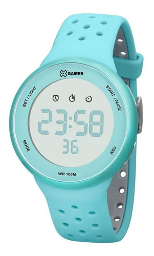 relógio x-games feminino digital xfppd041 bxag verde