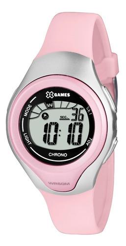 relógio x-games feminino digital xkppd033 bxrx rosa