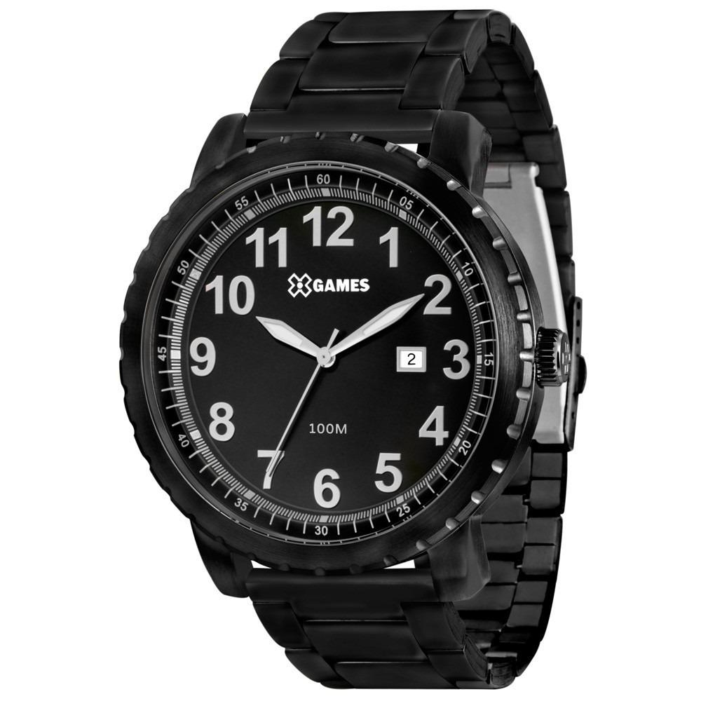 d1735b00e5d Relógio X-games Masculino Analogico Xmss1013 Preto Aço - R  195