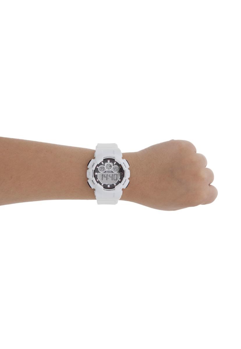 e92f1fd36c7 Características. Marca X-Games  Modelo esporte  Modelo alfanumérico Xmppd342  Bxbx Branco  Gênero Masculino  Material da correia do relógio ...