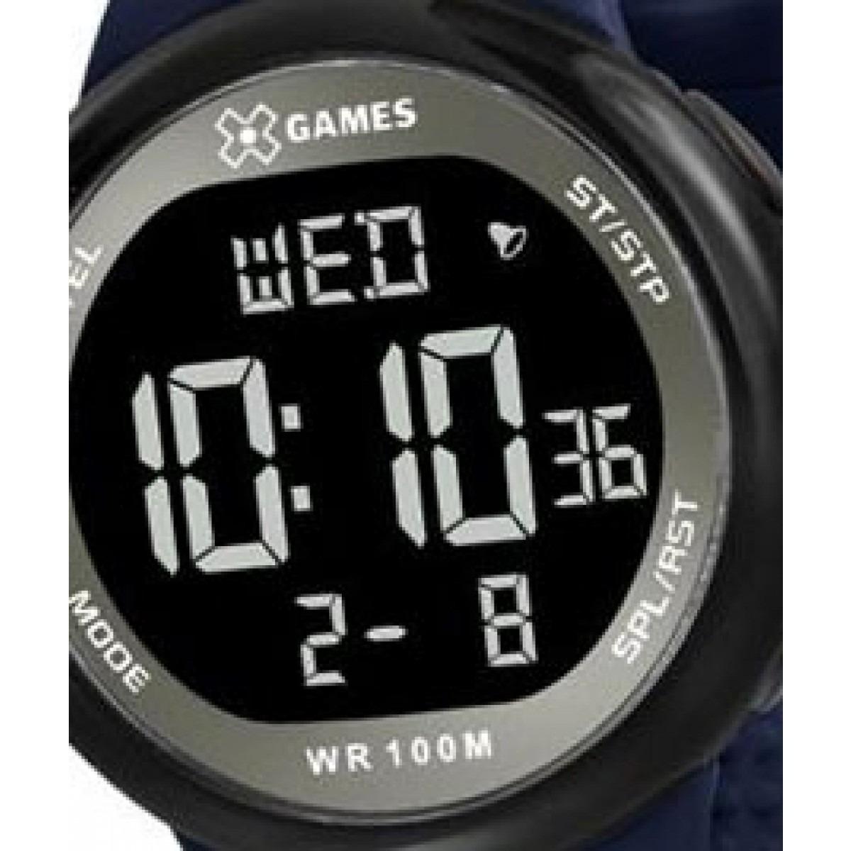 5606880f8e8 Relógio X-games Digital Masculino Azul Marinho Xmppd440 - R  149