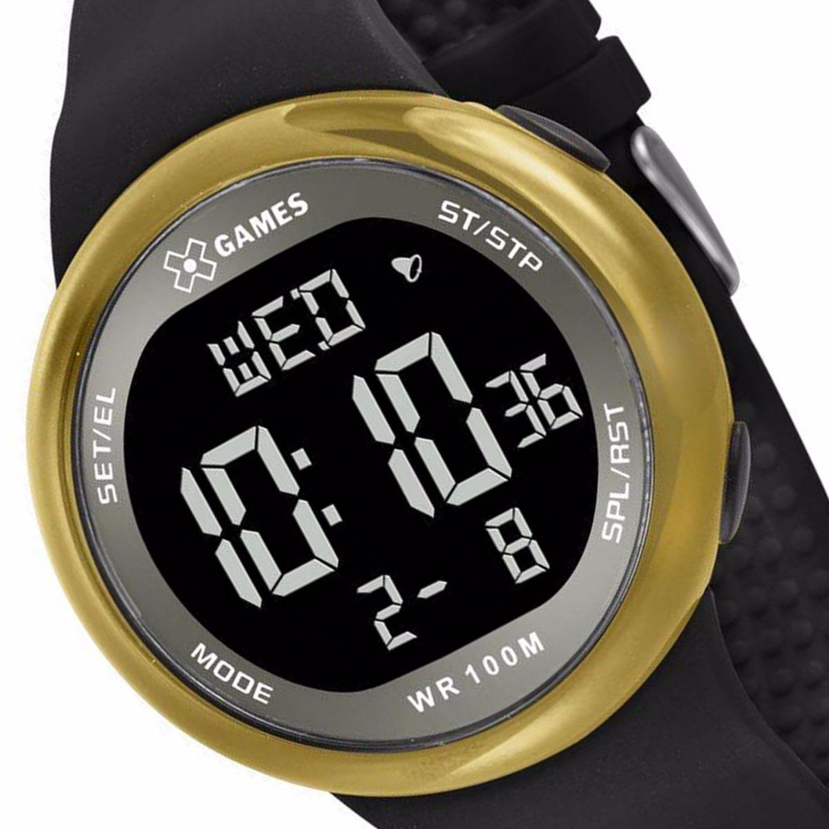 12db7c598c9 Relógio X-games Masculino Digital Xmppd441 Dourado - R  198