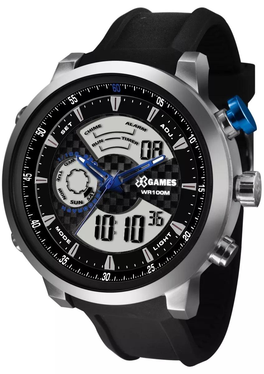 1ab8c6e15a5 Relógio X-games Prata Masculino Anadigi Xmspa015 P2px + Nf - R  255 ...
