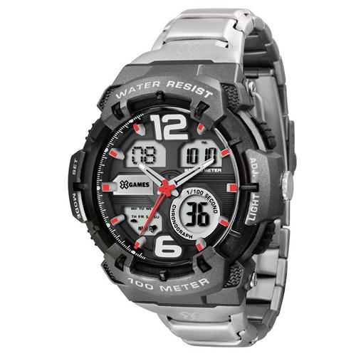 relógio x-games masculino anadigi xmpsa031