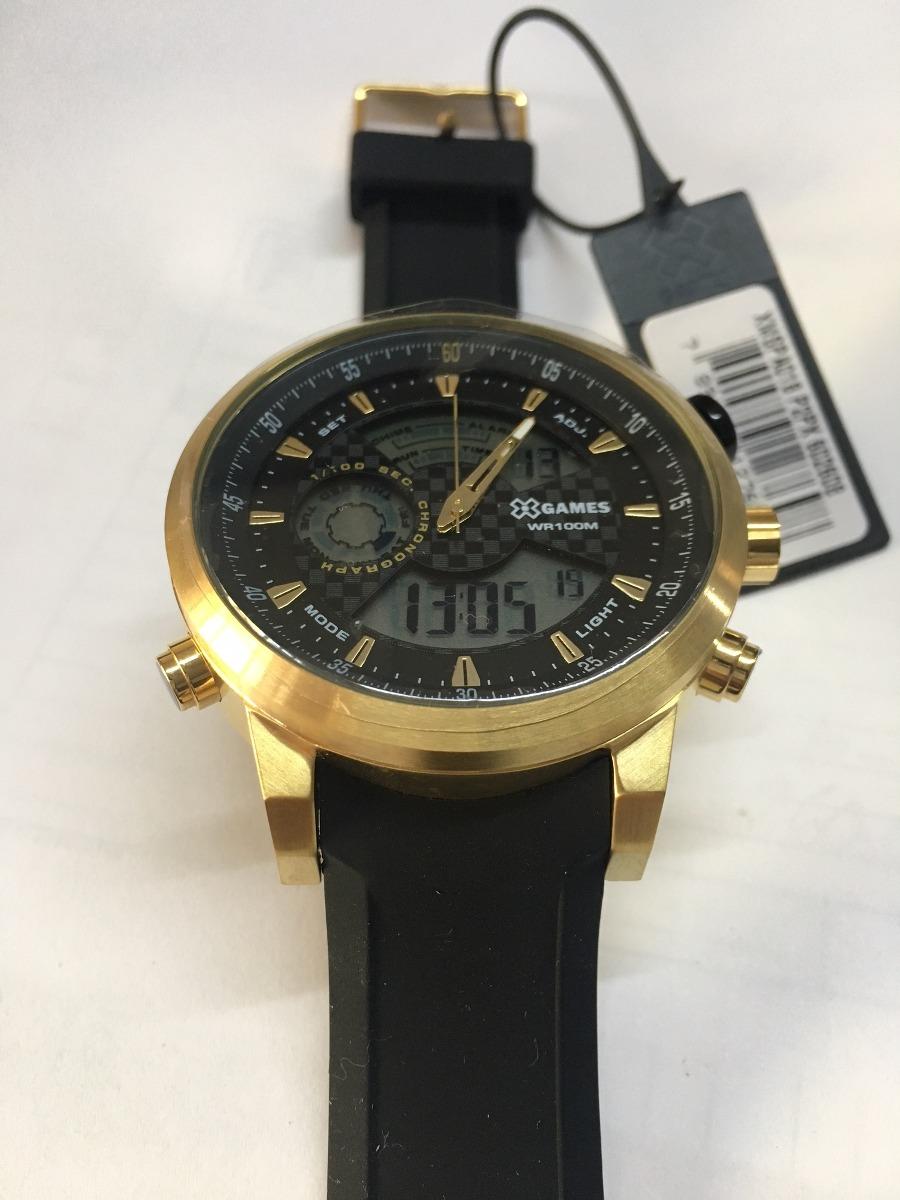 4ab30812dec relógio x-games masculino anadigi xmspa018 p2px dourado aço. Carregando  zoom.