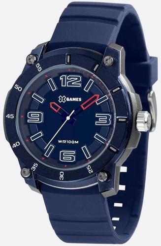 relógio x-games masculino  analogico azul - xmpp0029 d2dx