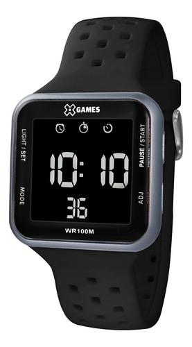 relógio x-games masculino digital xgppd091 grafite negativo