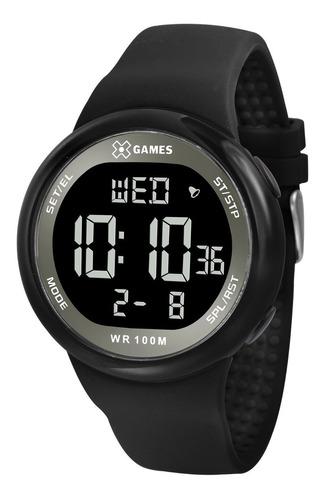 relógio x-games masculino digital xmppd442 preto negativo