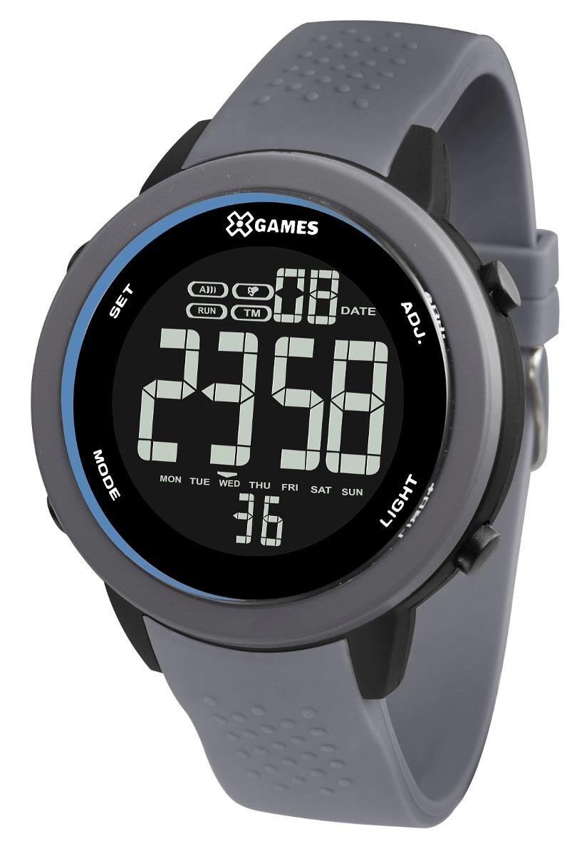 cdcd866e7a8 Relógio X-games Masculino Digital Xmppd473 Cinza Negativo - R  189