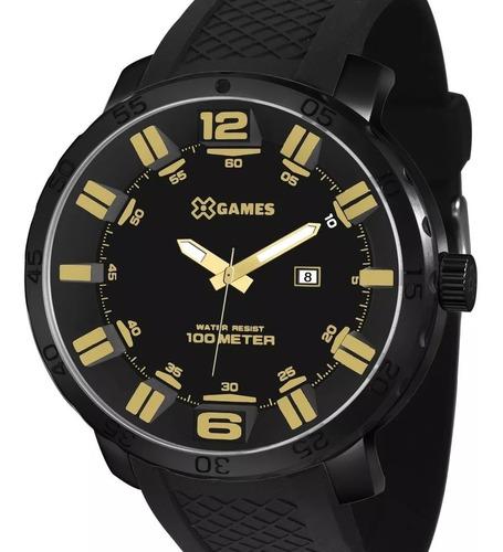 relógio x-games masculino original xmnp1001 p2px preto + nf