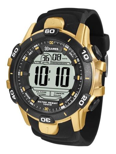 relógio x games masculino xmppd412 bxpx big case digital