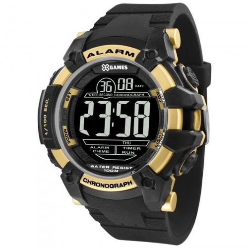 relógio x games masculino xmppd539 pxpx preto - refinado