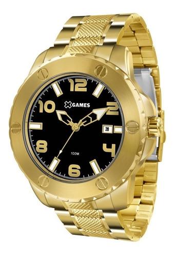 relógio x games  xmgs1026 p2kx dourado original