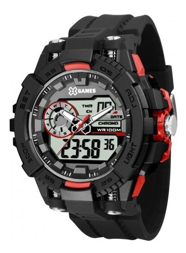 relógio x games xmppa237 bxpx masculino preto - refinado