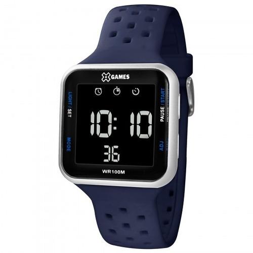 relógio xgames xgppd092 pxdx masculino azul - refinado