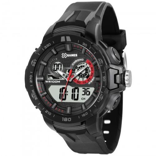 relógio xgames xmppa203 bxpx masculino preto - refinado