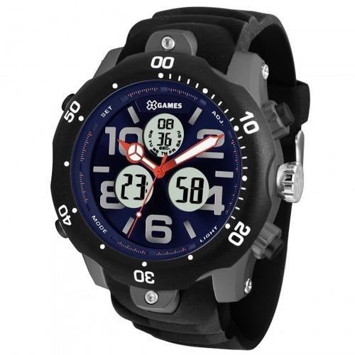 relógio xgames xmppa222 d2px preto cinza masc - refinado