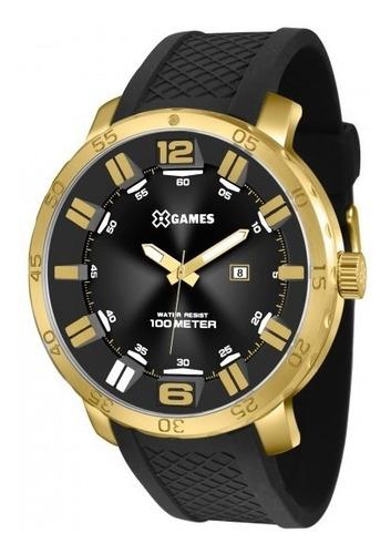 relógio xgames xmsp1013 p2px masculino dourado - refinado