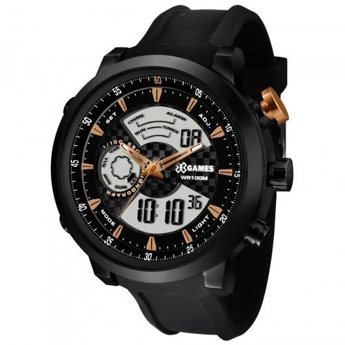 relógio xgames xmspa017 p2px masculino preto - refinado