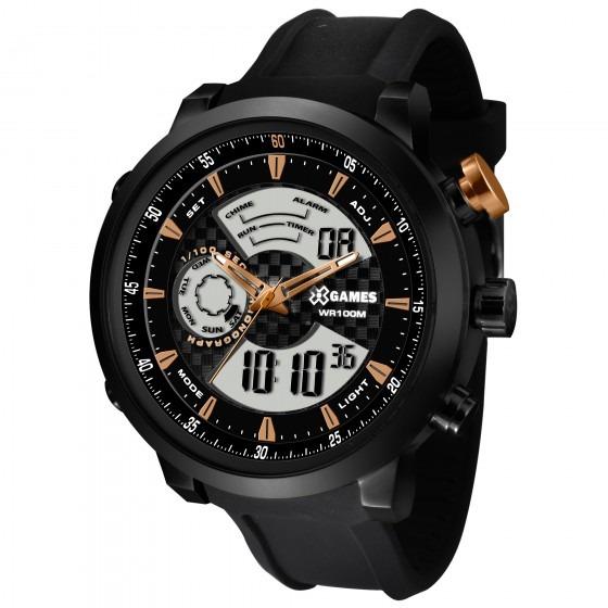 ff189858943 Relógio Xgames Xmspa017 P2px Xteel Masculino Preto- Refinado - R ...