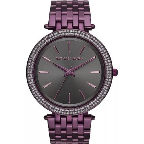 relógio xii843 michael kors feminino mk3554 roxo oferta + cx