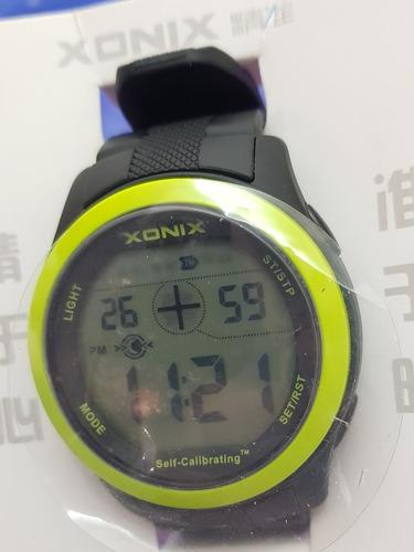 relógio xonix a prova d'água atualização automática de hora