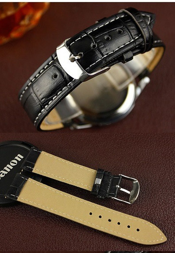 relógio yazole marron e preta