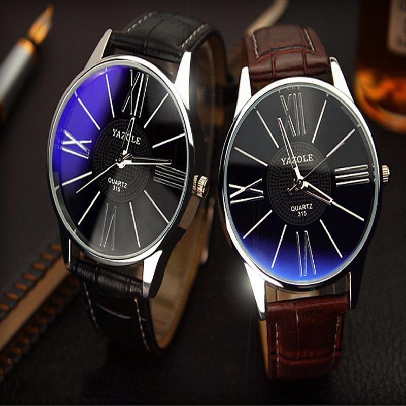 6852281ddb2 relógio yazole quartzo aço inoxidável couro original barato! Carregando zoom .