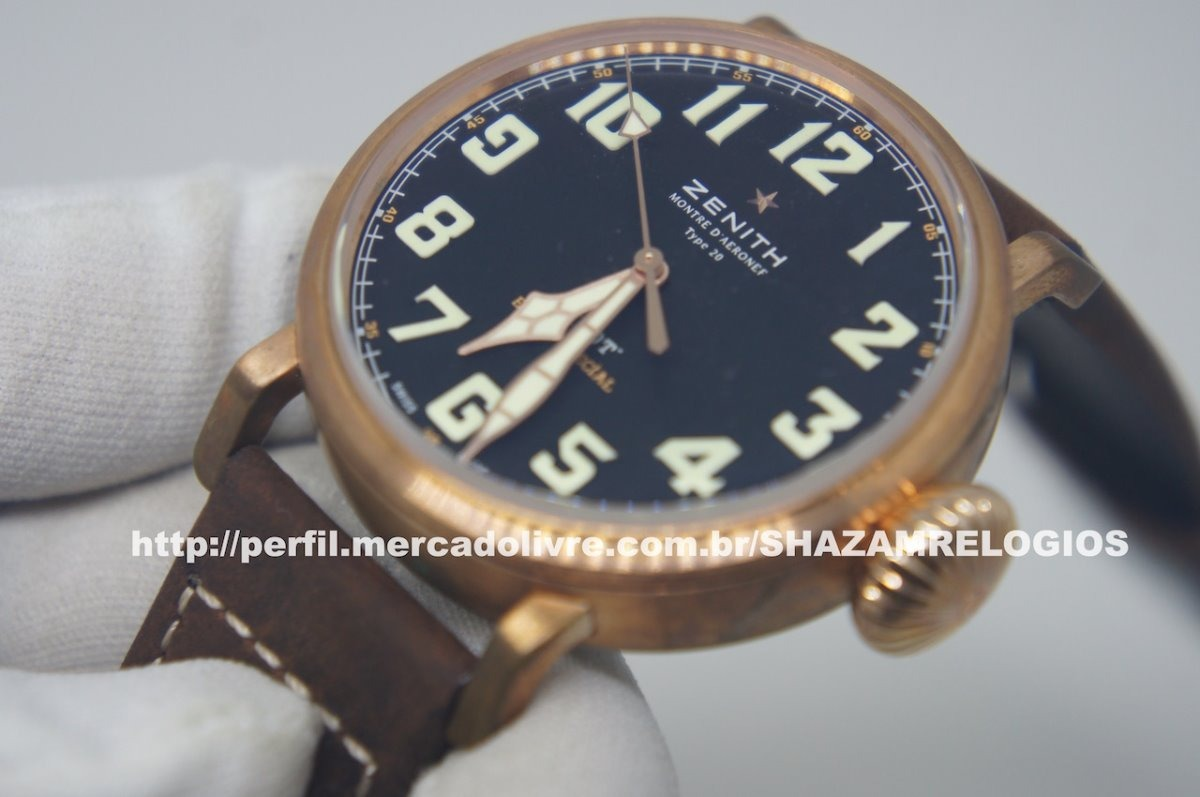 2f2dfec5ad5 relogio zenith pilot bronze eta. Carregando zoom.